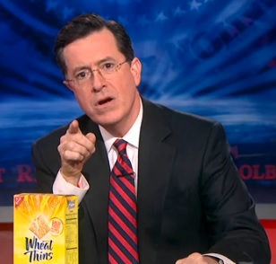 OTHER:  Stephen Colbert gives Wheat Thins a memorable sponsortunity.