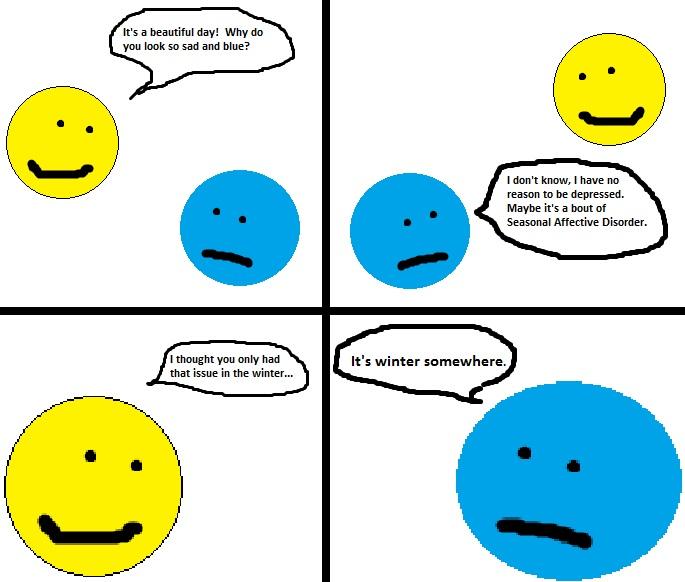 THE ARTIST: MINIMALIST COMICS: Seasonal AffectiveDisorder