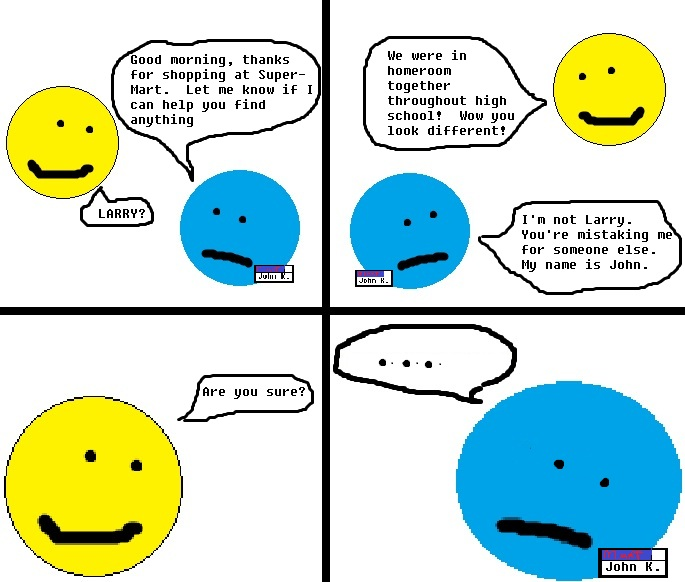 MINIMALIST COMICS: How am I not myself?