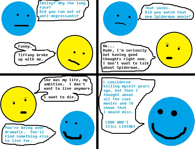 MINIMALIST COMICS: If you can't live for something you'll die fornothing.
