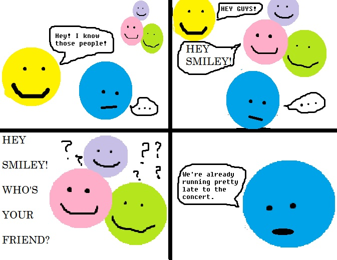 MINIMALIST COMICS: I don't have any friends because I'm notfriendly.